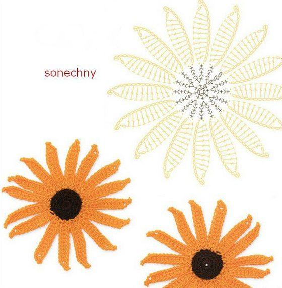 цветы крючком7