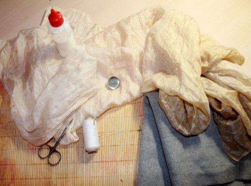Брошь из ткани