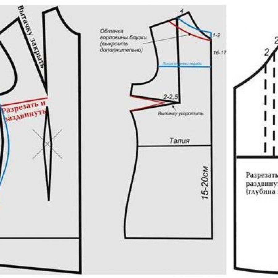 Сшить блузку из атласа своими руками без выкройки быстро