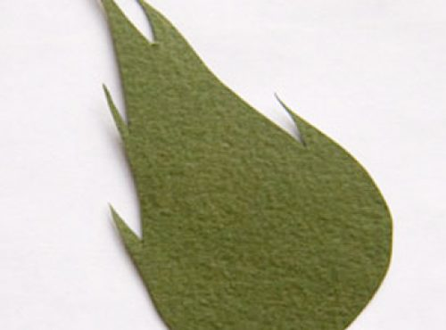 Листья розы из бумаги своими руками