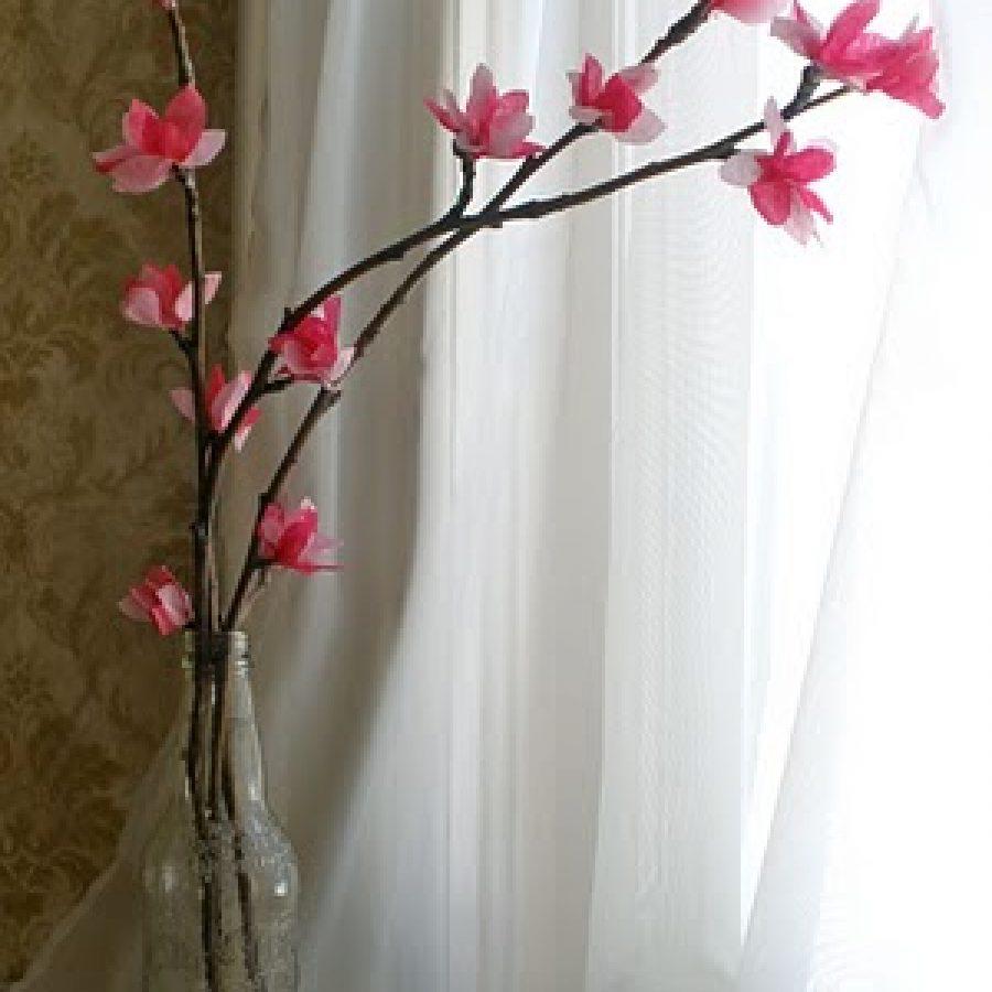 Веточки цветов сделаны своими руками