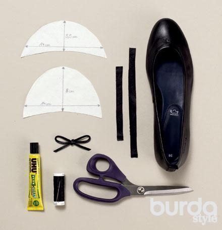 Как сделать из туфель балетки