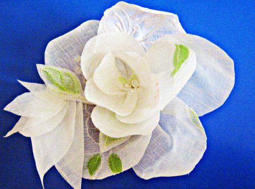 цветок из ткани18