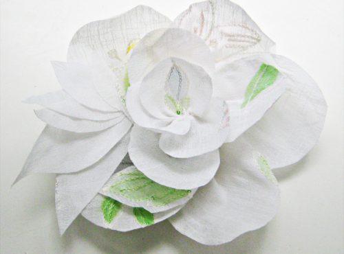 цветок из ткани20
