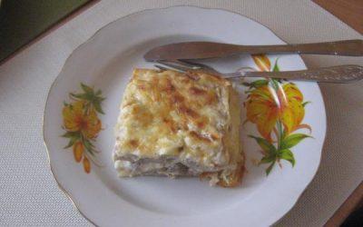 Лазанья с грибами и мясом