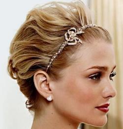 свадебные прически на короткие волосы3
