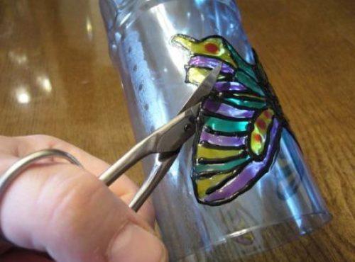 бабочки из пластиковой бутылки 4
