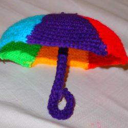 как связать зонтик крючком
