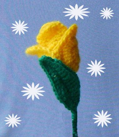 связать крючком тюльпан